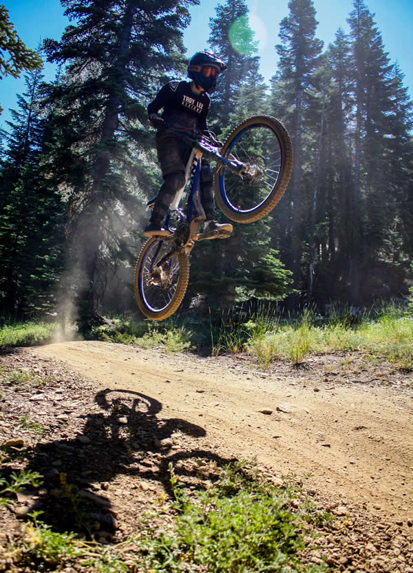 Mountain biking at summer camp