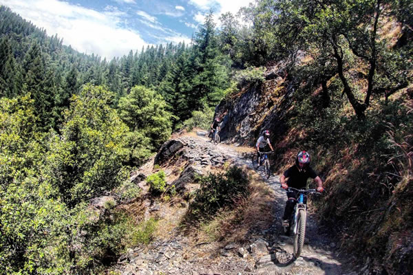 Mountain biking summer camp rides include Butcher Creek Trail