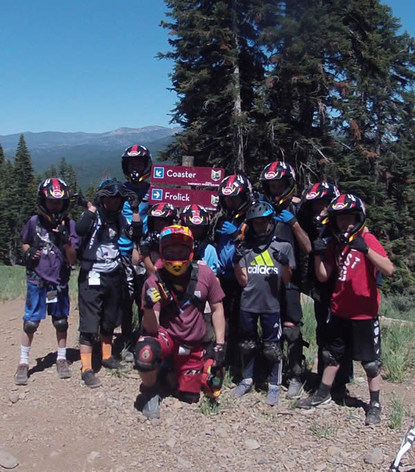 The summer camp mountain bike program track includes a Northstar Bike Park day pass!