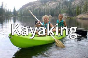 Kayaking at Shaffer's High Sierra Summer Camp