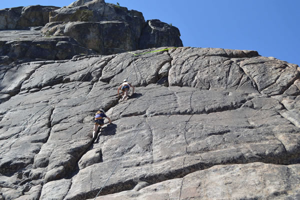 Undiscovered climbs used by the summer camp