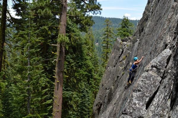 Rock climbing summer camp at the Yuba Pass
