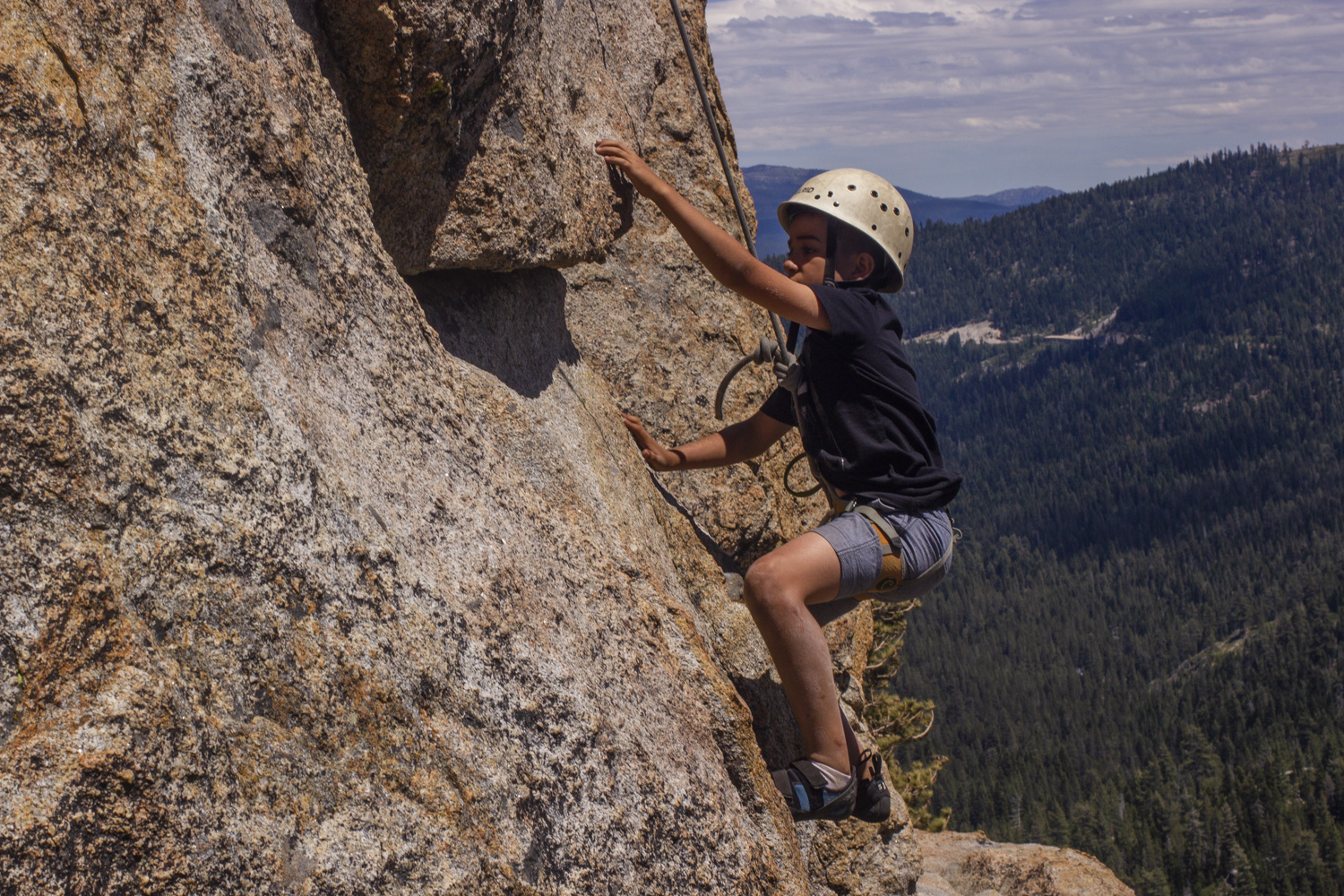 Summer camp can help your son gain confidence.
