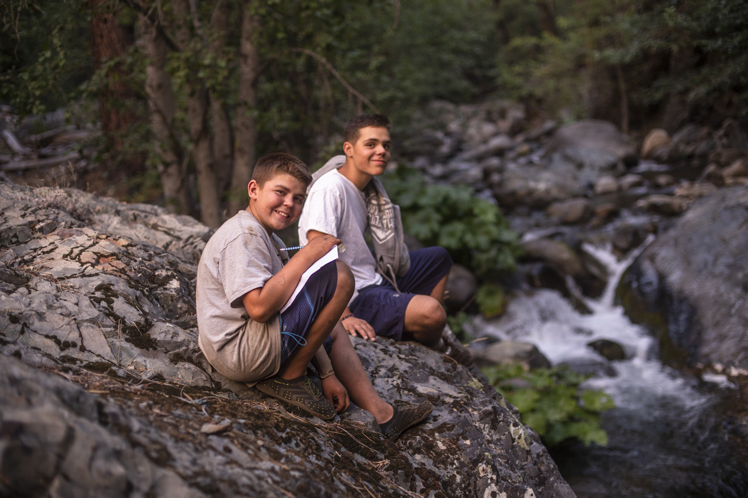 Summer camp can help your son build his social competence.