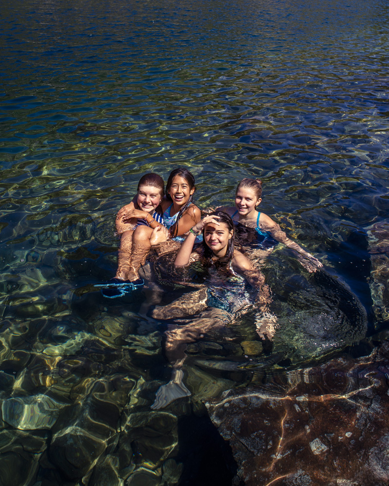 Summer camp helps girls with social competence.